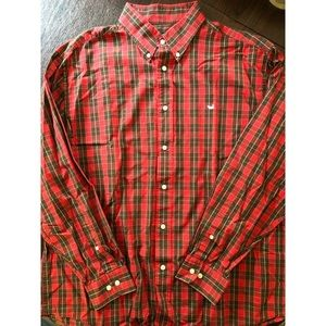 Southern Marsh Men's Red Plaid Button Up